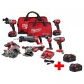 Milwaukee M18 FUEL 18-Volt Lithium-Ion Brushless Cordless Combo Kit (7-Tool) with Two Free M18 5.0 Ah Batteries