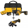 DEWALT FLEXVOLT 60-Volt MAX Lithium-Ion Cordless Brushless 1/2 in. Stud and Joist Drill with Bonus Angle Grinder