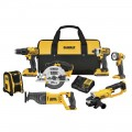 DEWALT 20-Volt MAX Lithium-Ion Cordless Drill/Driver Combo Kit (7-Tool) with (2) 20-Volt Batteries 2.0Ah, Charger and Tool Bag