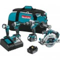 Makita 18-Volt 5.0Ah LXT Lithium-Ion Brushless Cordless Combo Kit/ Hammer Drill/ Impact Driver/ Circular Saw/ Flashlight
