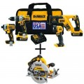 DEWALT 20-Volt MAX XR Lithium-Ion Cordless Combo Kit (4-Tool) with Bonus Bare 7-1/4 in. Circular Saw with Brake