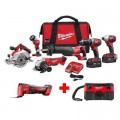 Milwaukee M18 18-Volt Lithium-Ion Cordless Combo Tool Kit (6-Tool) with Free M18 Multi-Tool and Wet/Dry Vacuum