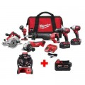 Milwaukee M18 18-Volt Lithium-Ion Cordless Combo Tool Kit (6-Tool) with Free M18 Jobsite Fan and 5.0 Ah Battery