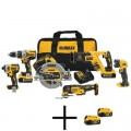 DEWALT 20-Volt MAX XR Lithium-Ion Brushless Cordless Combo Kit (6-Tool) with Free Battery Pack (2-Pack)