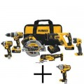 DEWALT 20-Volt MAX XR Lithium-Ion Brushless Cordless Combo Kit (6-Tool) with Free 1/2 in. Impact Wrench