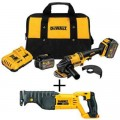 DEWALT FLEXVOLT 60-Volt MAX Lithium-Ion Cordless Brushless 4-1/2 in. Angle Grinder with Bonus Reciprocating Saw