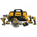 DEWALT 20-Volt MAX Lithium-Ion Cordless Combo Kit (5-Tool) w/ (2) Batteries 5.0Ah & Charger