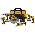 DEWALT 20-Volt MAX XR Lithium-Ion Brushless Cordless Combo Kit (6-Tool) w/ Hammer Drill, (2) Batteries 5.0Ah, Charger and Bag