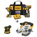 DEWALT 20-Volt MAX Cordless Brushless Combo Kit (2-Tool) with Bonus 5 in. Sander and 6-1/2 in. Circular Saw (Tools-Only)