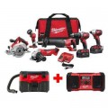 Milwaukee M18 18-Volt Lithium-Ion Cordless Combo Tool Kit (6-Tool) with Free M18 Wet/Dry Vacuum and Jobsite Radio