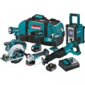 Makita 18-Volt 3.0Ah LXT Lithium-Ion Cordless Combo Kit (7-Piece)