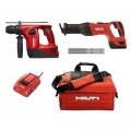 Hilti 22-Volt Lithium-Ion Cordless Rotary Hammer Drill and Brushless Reciprocating Saw Combo Kit (2-Tool) with/Charger and Bag