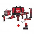 Milwaukee M12 12-Volt Lithium-Ion Cordless Combo Tool Kit (8-Tool) with Free 6.0 Ah Battery