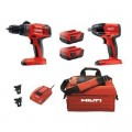 Hilti 22-Volt Lithium-Ion Keyless Chuck Cordless Hammer Drill Driver/1/2 in. Impact Wrench Combo Kit (2-Tool)