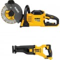 DEWALT FLEXVOLT 60-Volt Lithium-Ion 9 in. Construction Saw with Free Reciprocating Saw