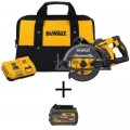 DEWALT FLEXVOLT 60-Volt MAX Cordless Brushless 7-1/4 in. Wormdrive Circular Saw w/ Bonus FLEXVOLT 20/60-Volt Battery