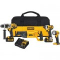 DEWALT 20-Volt MAX Lithium-Ion Cordless Combo Kit (4-Tool) with (2) Batteries 3.0Ah, Charger and Tool Bag