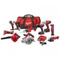 Milwaukee M18 18-Volt Lithium-Ion Cordless Combo Kit (10-Tool) with (2) Batteries, Charger and (2) Tool Bags