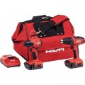 Hilti 22-Volt Lithium-Ion Cordless Impact Drill Driver/Drill Driver Combo Kit (2-Tool)