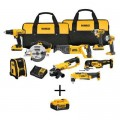 DEWALT 20-Volt MAX Lithium-Ion Cordless Combo Kit (9-Tool), (2) 2Ah Batteries, Charger, with Bonus 20-Volt 5.0 Ah Battery